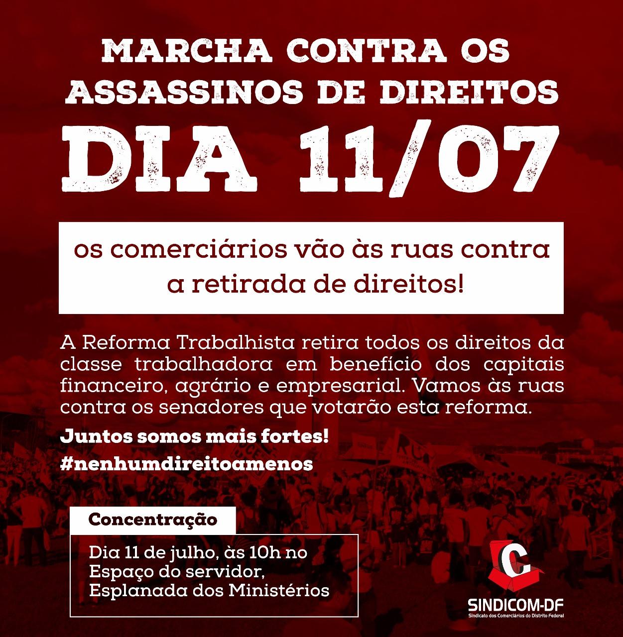 Comerciários (as) nas ruas pelos direitos trabalhistas!