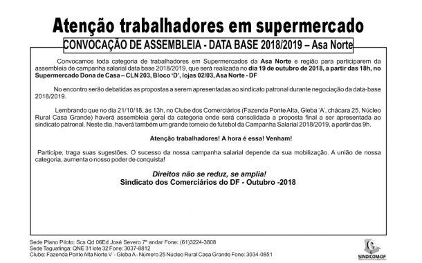 Assembleia data-base 2018/2019 Supermercados Asa Norte