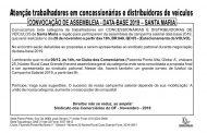 ASSEMBLEIA DATA-BASE CONCESSIONÁRIAS E DISTRIBUIDORAS DE VEÍCULOS – SANTA MARIA