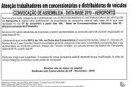 ASSEMBLEIA DATA-BASE CONCESSIONÁRIAS E DISTRIBUIDORAS DE VEÍCULOS – AEROPORTO