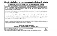 ASSEMBLEIA DATA-BASE CONCESSIONÁRIAS E DISTRIBUIDORAS DE VEÍCULOS – GAMA