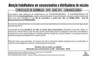 Assembleia data-base concessionárias e distribuidoras de veículos – Candangolândia