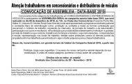 ASSEMBLEIA DATA-BASE 2019 CONCESSIONÁRIAS E DISTRIBUIDORAS DE VEÍCULOS