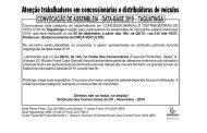 ASSEMBLEIA DATA-BASE CONCESSIONÁRIAS E DISTRIBUIDORAS DE VEÍCULOS – TAGUATINGA