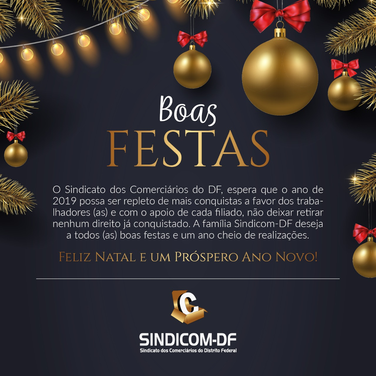 O Sindicom deseja a todos os trabalhadores boas festas!