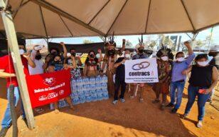 Sindicato reúne doações para o acampamento indígena