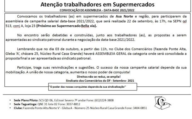 Assembleia data-base 2020/2021 – Supermercado Asa Norte