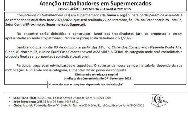 Assembleia data-base 2020/2021 – Supermercado Gama
