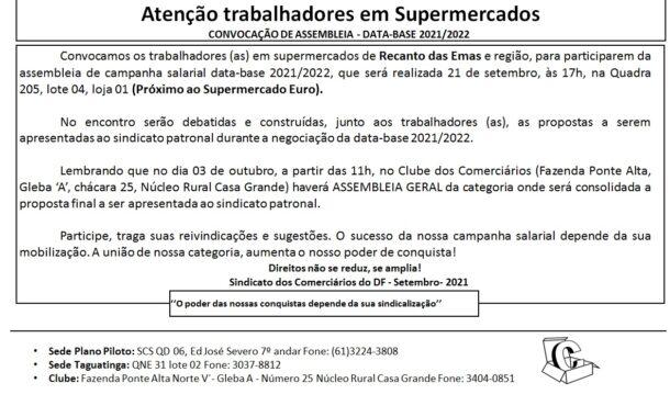 Assembleia data-base 2020/2021 – Supermercado Recanto das Emas