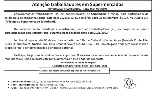 Assembleia data-base 2020/2021 – Supermercado Samambaia